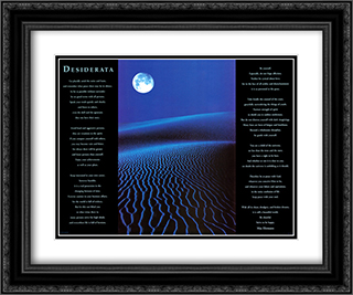 Desiderata 2x Matted 24x20 Black or Gold Ornate Framed Art Print