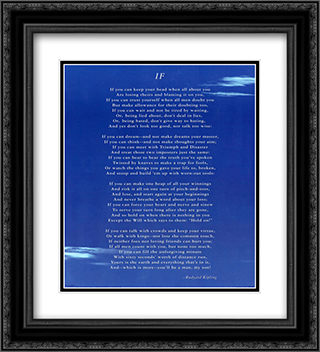If 2x Matted 20x24 Black or Gold Ornate Framed Art Print by Rudyard Kipling