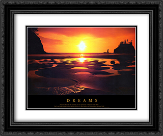Dreams 2x Matted 24x20 Black or Gold Ornate Framed Art Print