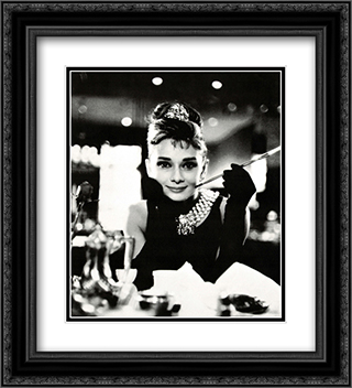 Audrey Hepburn: Breakfast at Tiffany's 2x Matted 20x24 Black or Gold Ornate Framed Art Print
