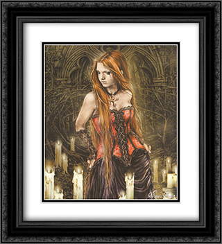 Red Basque 2x Matted 20x24 Black or Gold Ornate Framed Art Print by Victoria Frances