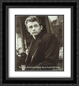 James Dean (Live As If) 2x Matted 20x24 Black or Gold Ornate Framed Art Print