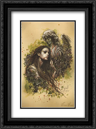 Victoria Frances El Amor 2x Matted 20x24 Black or Gold Ornate Framed Art Print by Victoria Frances