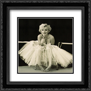 Marilyn Monroe - Ballerina 2x Matted 20x24 Black or Gold Ornate Framed Art Print by Milton Greene