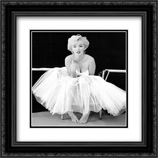 Marilyn Monroe - Ballerina 2x Matted 20x20 Black or Gold Ornate Framed Art Print by Milton Greene