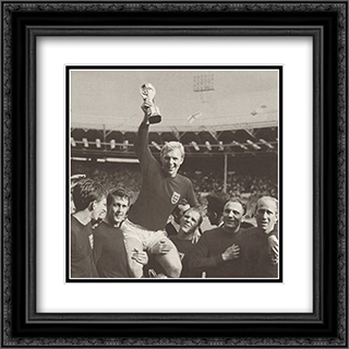 England 1966 World Cup Winner 2x Matted 20x20 Black or Gold Ornate Framed Art Print