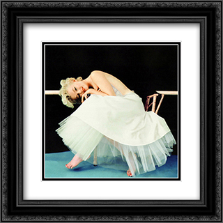 Marylin Monroe Ballet 2 2x Matted 20x20 Black or Gold Ornate Framed Art Print by Milton Greene