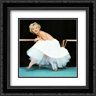Marilyn Monroe Ballet 1 2x Matted 20x20 Black or Gold Ornate Framed Art Print by Milton Greene