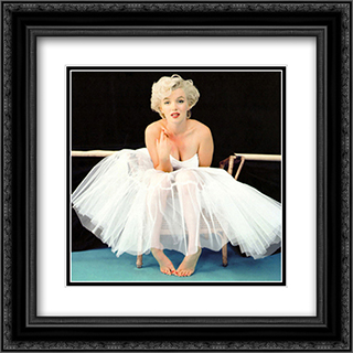 Marilyn Monroe Ballet 3 2x Matted 20x20 Black or Gold Ornate Framed Art Print by Milton Greene