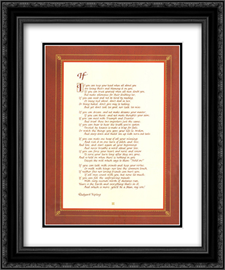 If 2x Matted 16x20 Black or Gold Ornate Framed Art Print by Rudyard Kipling