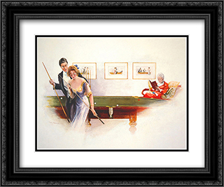 Leaving the Red 2x Matted 24x20 Black or Gold Ornate Framed Art Print by Hurst
