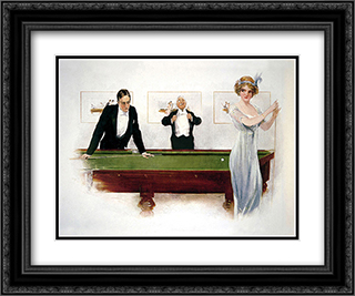 Miss in Baulk 2x Matted 24x20 Black or Gold Ornate Framed Art Print by Hurst