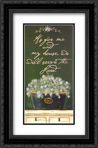 As for Me and My House 2x Matted 14x24 Black or Gold Ornate Framed Art Print by Jo Moulton
