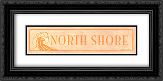 North Shore 2x Matted 24x9 Black or Gold Ornate Framed Art Print by Stephanie Marrott