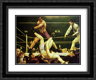 Jack Dempsey And Firpo 2x Matted 24x20 Black or Gold Ornate Framed Art Print by George Wesley Bellows