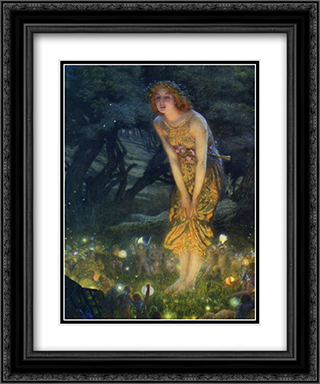 Midsummer Eve, c.1908 2x Matted 20x24 Black or Gold Ornate Framed Art Print by Edward Robert Hughes