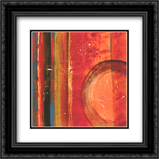 Inside The Roche Limit I 2x Matted 16x16 Black or Gold Ornate Framed Art Print by Lanie Loreth