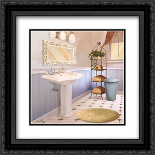 Sundance Bath II 2x Matted 16x16 Black or Gold Ornate Framed Art Print by Elizabeth Medley