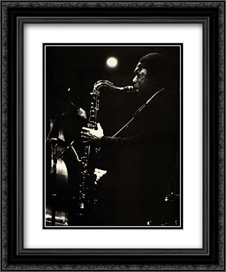 John Coltrane 2x Matted 20x24 Black or Gold Ornate Framed Art Print by Lee Tanner