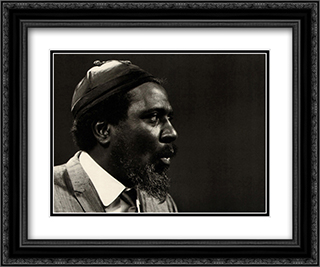 Thelonious Monk 2x Matted 24x20 Black or Gold Ornate Framed Art Print by Lee Tanner