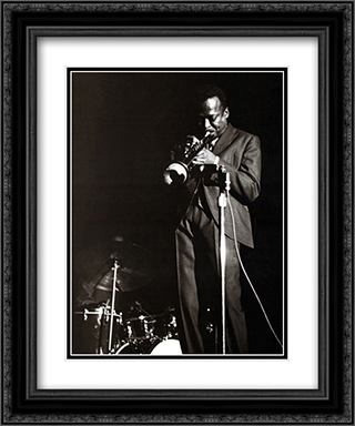 Miles Davis 2x Matted 20x24 Black or Gold Ornate Framed Art Print by Lee Tanner
