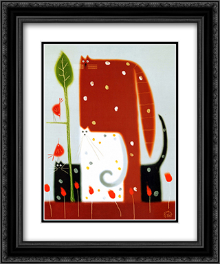 Long, Short And Tall 2x Matted 20x24 Black or Gold Ornate Framed Art Print by Govinder Nazran
