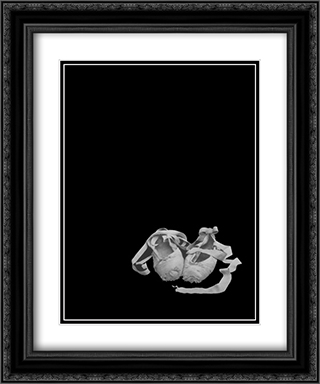Ballet Slippers 2x Matted 20x24 Black or Gold Ornate Framed Art Print by Harvey Edwards