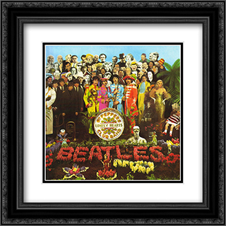 The Beatles: Sgt. Pepper 2x Matted 20x20 Black or Gold Ornate Framed Art Print by Peter Blake