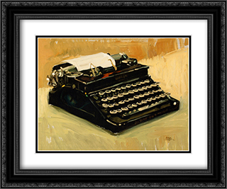 Typewriter 2x Matted 24x20 Black or Gold Ornate Framed Art Print by Craig Nelson