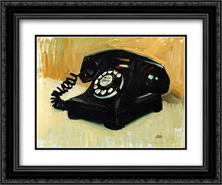 Telephone 2x Matted 24x20 Black or Gold Ornate Framed Art Print by Craig Nelson