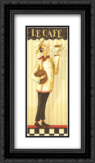 Chef's Masterpiece II 2x Matted 12x24 Black or Gold Ornate Framed Art Print by Lisa Audit