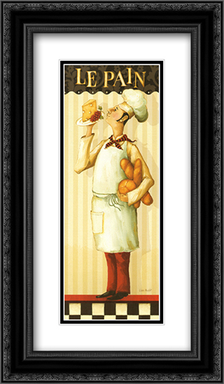 Chef's Masterpiece III 2x Matted 12x24 Black or Gold Ornate Framed Art Print by Lisa Audit