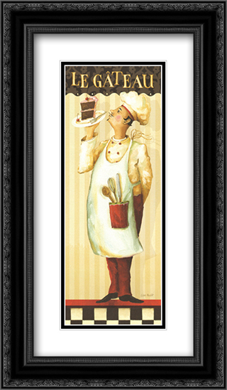 Chef's Masterpieces IV 2x Matted 12x24 Black or Gold Ornate Framed Art Print by Lisa Audit