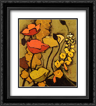 Colours De La Nuit I 2x Matted 20x24 Black or Gold Ornate Framed Art Print by Shirley Novak