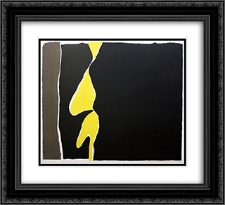 Hommage to the First Monk Immolating Himself in Saigon 22x20 Black or Gold Ornate Framed and Double Matted Art Print by Adja Yunkers