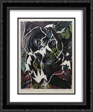 The Bird Lover 20x24 Black or Gold Ornate Framed and Double Matted Art Print by Adja Yunkers
