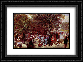 Afternoon in the Tuileries Gardens 24x18 Black or Gold Ornate Framed and Double Matted Art Print by Adolph Menzel