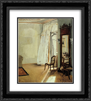 Balcony Room 20x22 Black or Gold Ornate Framed and Double Matted Art Print by Adolph Menzel