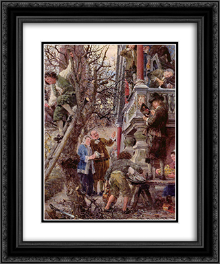 Beati Possidentes (Blessed are those who have) 20x24 Black or Gold Ornate Framed and Double Matted Art Print by Adolph Menzel