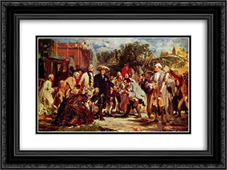 Friedrich der Grosse auf Reisen 24x18 Black or Gold Ornate Framed and Double Matted Art Print by Adolph Menzel