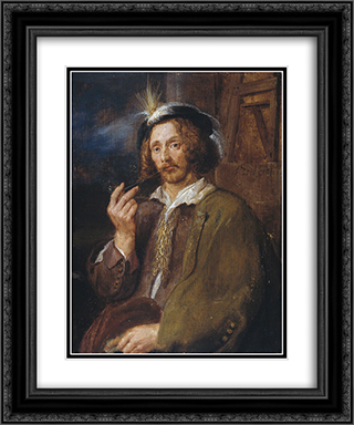 Jan Davidszoon de Heem 20x24 Black or Gold Ornate Framed and Double Matted Art Print by Adriaen Brouwer