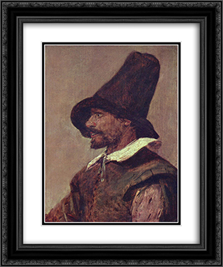 Portrait of a Man 20x24 Black or Gold Ornate Framed and Double Matted Art Print by Adriaen Brouwer