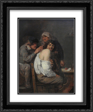 The Back Operation 20x24 Black or Gold Ornate Framed and Double Matted Art Print by Adriaen Brouwer