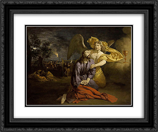 Agony in the Garden 24x20 Black or Gold Ornate Framed and Double Matted Art Print by Adriaen van de Velde