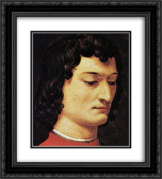 A portrait of Giuliano di Piero de' Medici 20x22 Black or Gold Ornate Framed and Double Matted Art Print by Agnolo Bronzino