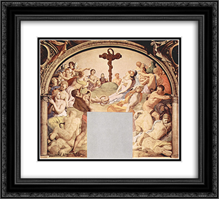 Adoration of the Cross with the Brazen Serpent 22x20 Black or Gold Ornate Framed and Double Matted Art Print by Agnolo Bronzino