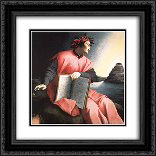 Allegorical Portrait of Dante 20x20 Black or Gold Ornate Framed and Double Matted Art Print by Agnolo Bronzino