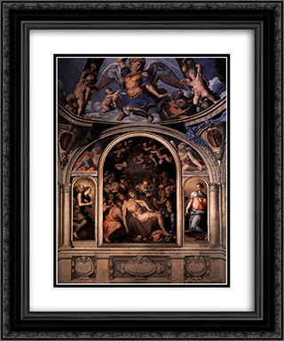 Altarpiece 20x24 Black or Gold Ornate Framed and Double Matted Art Print by Agnolo Bronzino