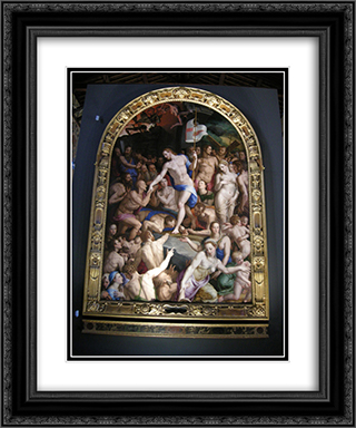 Christ in Limbo 20x24 Black or Gold Ornate Framed and Double Matted Art Print by Agnolo Bronzino
