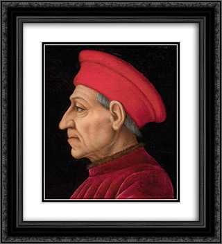 Cosimo de' Medici 20x22 Black or Gold Ornate Framed and Double Matted Art Print by Agnolo Bronzino